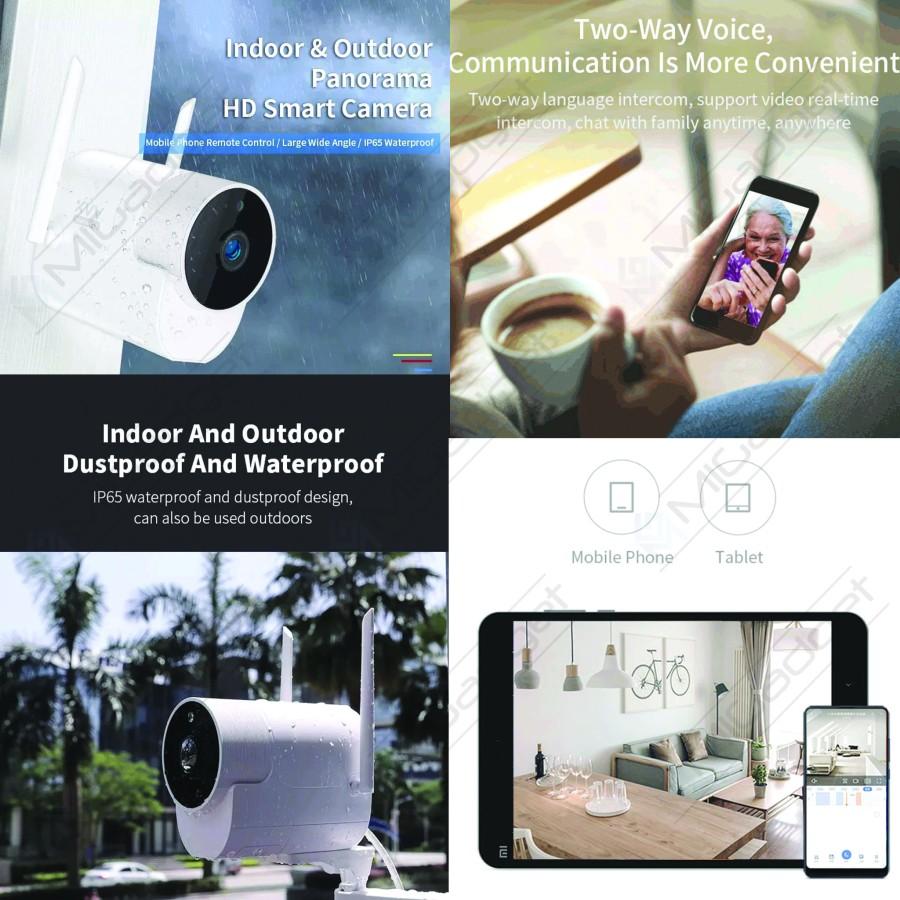 Xiaovv Kamera CCTV Outdoor Night Vision kolase 1