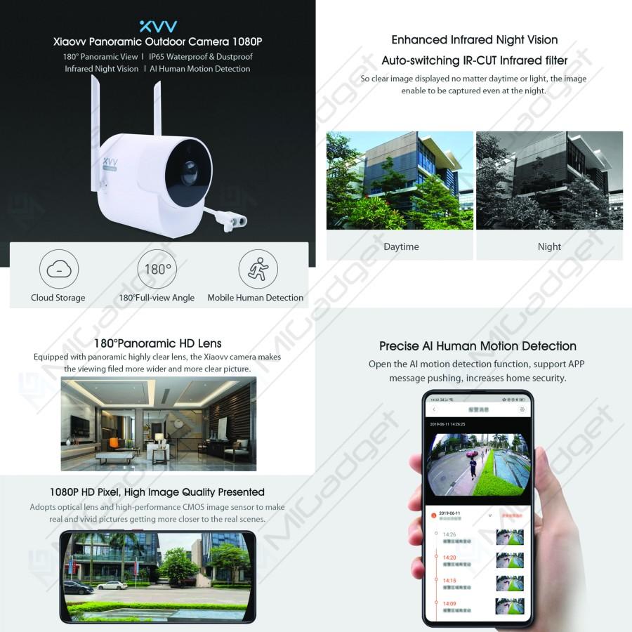 Xiaovv Kamera CCTV Outdoor Night Vision kolase 3